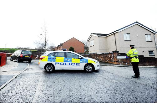 The scene last December after a shot was fired during a violent street clash at Kempton Rise in Blackburn
