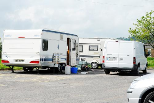Caravans at the site