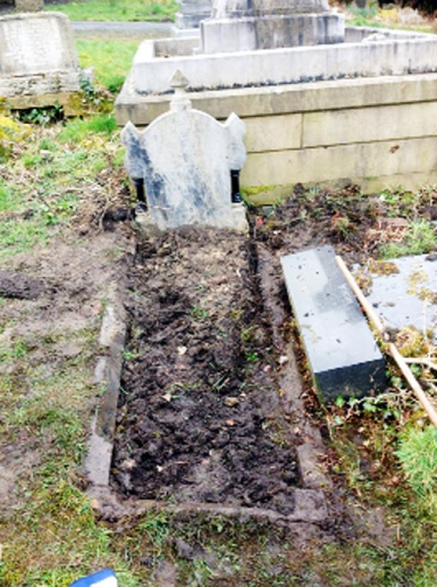 Lancashire Telegraph: The grave in Darwen Cemetery