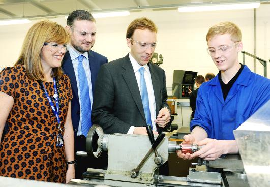 Engineers in a lesson at Nelson and Colne College