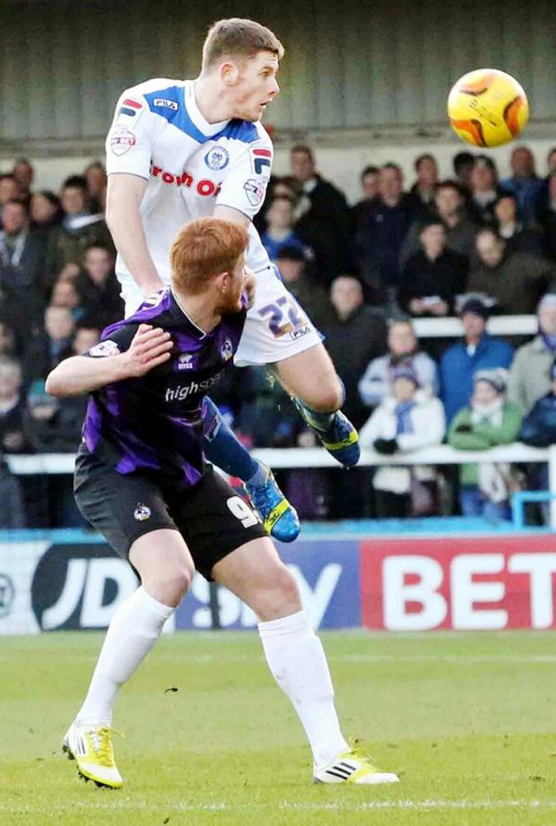 Lancashire Telegraph: Jack O'Connell at Rochdale