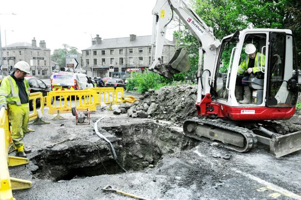 Road reopens after burst water pipe in Rawtenstall