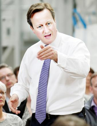 Prime Minister David Cameron on his visit to E Lancs recently