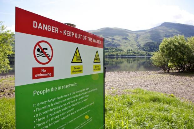 Woman rescued from Nelson reservoir