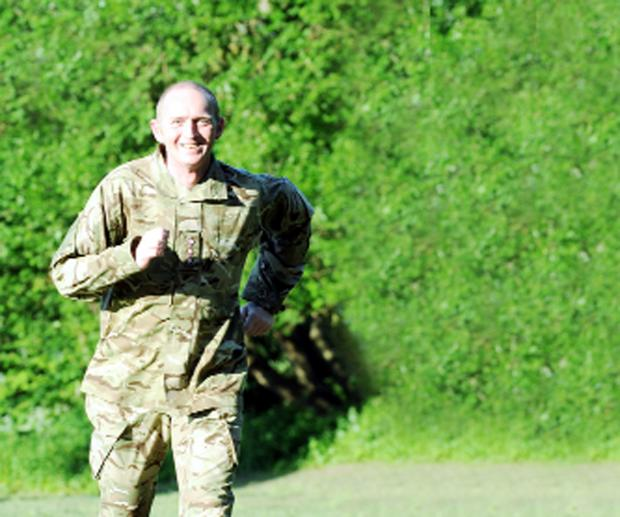 Soldier to take part in Darwen Triathlon to raise money for mental health ward
