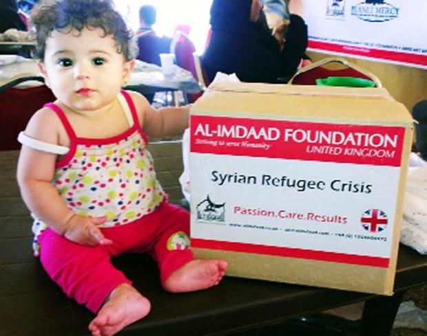 Aid for Syrian refugees from the Al-Imdaad Foundation