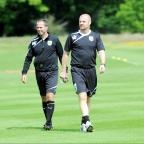 Lancashire Telegraph: Ian Woan (left) and Burnley boss Sean Dyche