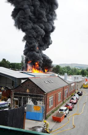 The blaze at the  Park Road site