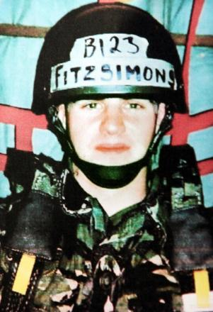 Ex-soldier Danny Fitzsimons is serving a 20-year sentence