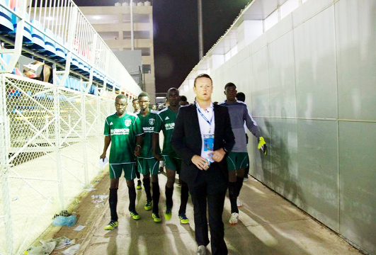 Mark Hodson with his Darfur squad