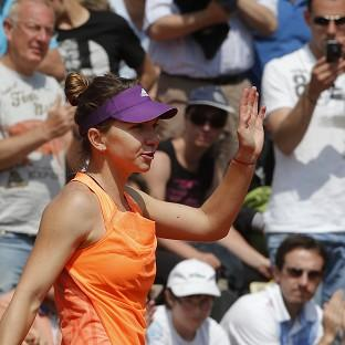 Simona Halep has not yet dropped a set on her way to the fourth round of the French Open (AP)