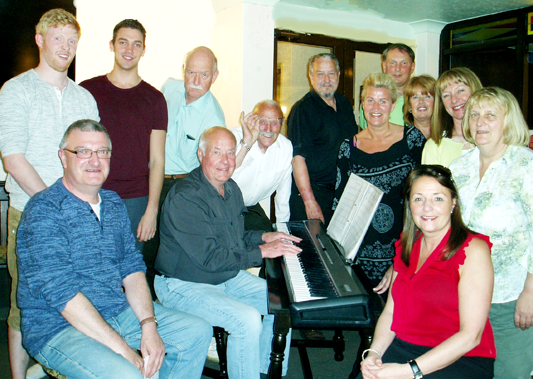 The cast of 'Allo 'Allo 'listens very carefully' to Joe Winkley's music