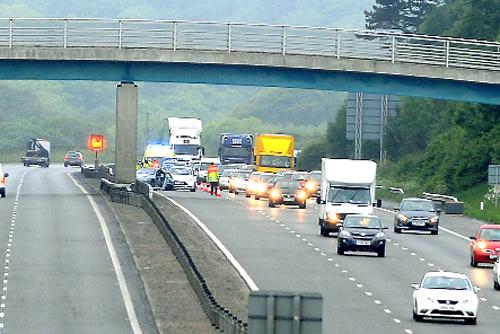 Air ambulance called to M65 after crash