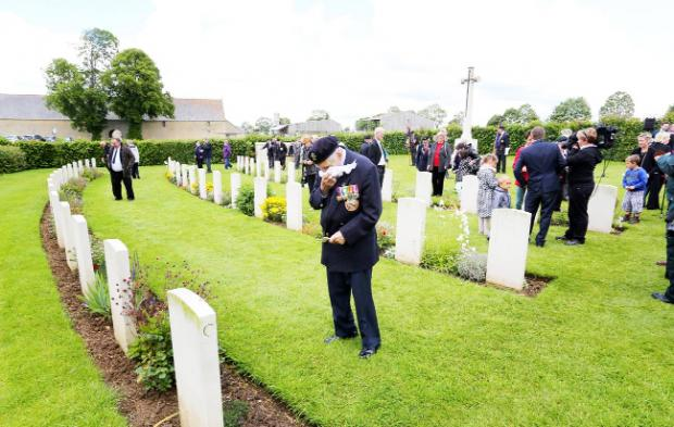 Veterans remember friends who died in the 1944 conflict during their visits to France this week
