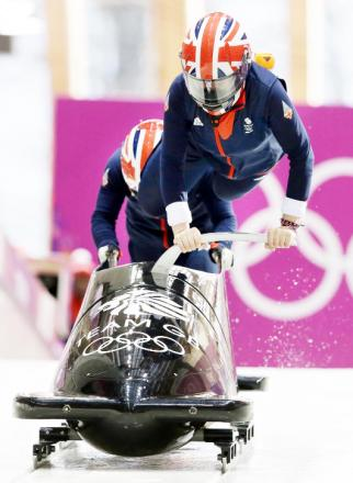 Paula Walker in action at the Winter Olympics in Sochi