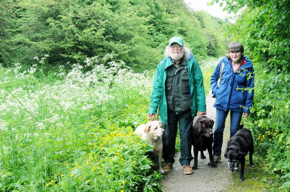 Chairman Dave and Sue Penney with their dogs Poppy, Jasper and Evie. Right, warden Annette Hawkins Pictures: Julian Brown