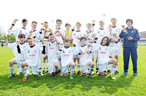 Fulledge Colts Under 14s who have completed the league and cup double and recently returned from Belgium