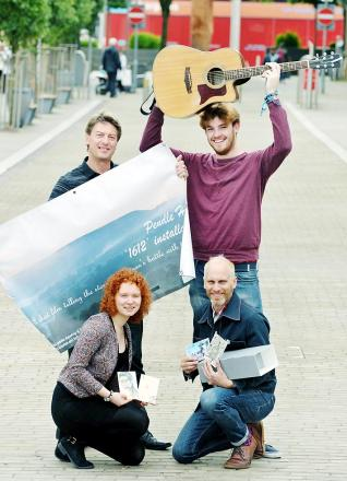 Guitarist Tom Scothern, vocalist Nicole Haigh, sculptor Philippe Handford and In-Situ artistic director Paul Hartley are among those travelling to Creil for the 40th birthday celebrations