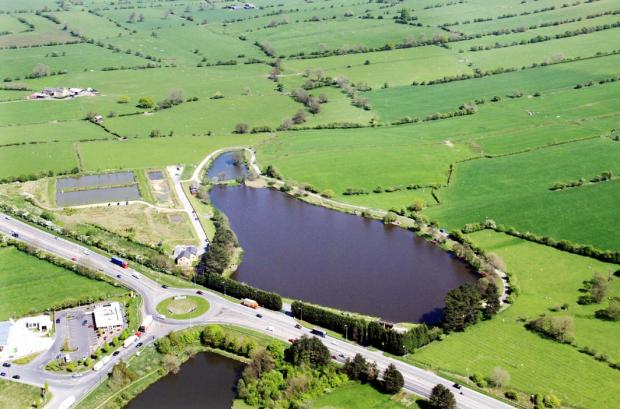 A stunning aerial view of Pendle View Fisheries, believed to be home to the county's largest carp