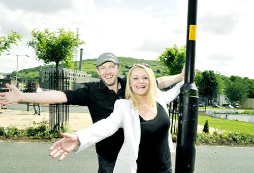 Andrew Thomas and Lisa Costello in Bank Street, Rawtenstall