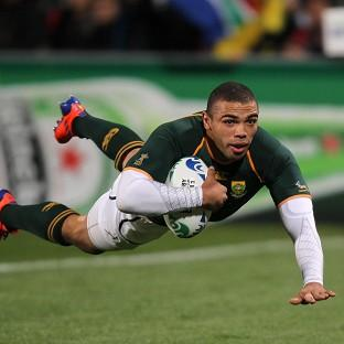Bryan Habana scored a pair of tries for South Afric