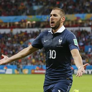 Karim Benzema was involved in all three of France's goals (AP)