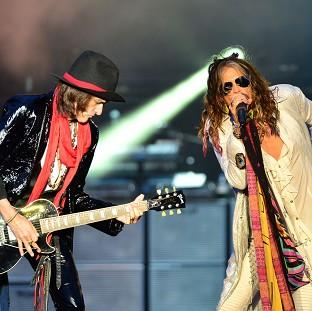 Aerosmith's Joe Perry and Steven Tyler put aside their differences to headline the Download Festival