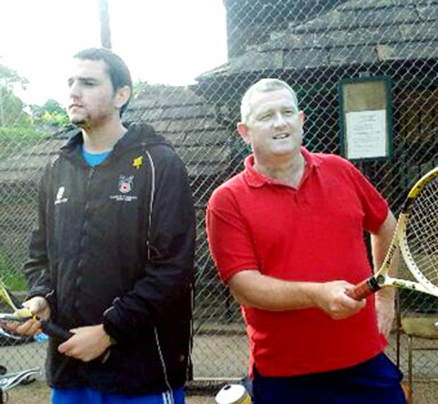 Iain Taylor (right) with son Liam who is also a coach