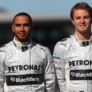Nico Rosberg, right, believes he now has the psychological edge over Lewis Hamilton, left