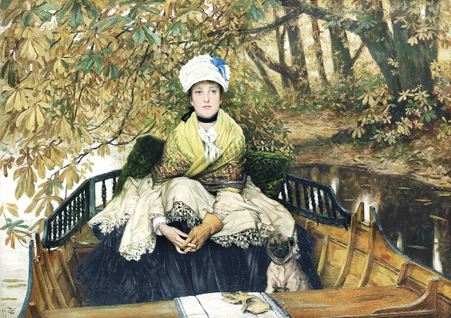 James Tissot's painting, entitled Waiting, was bought by an E