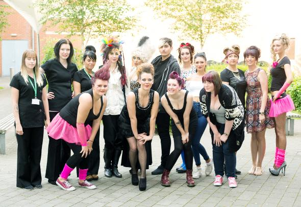 Blackburn College students model their stunning creations