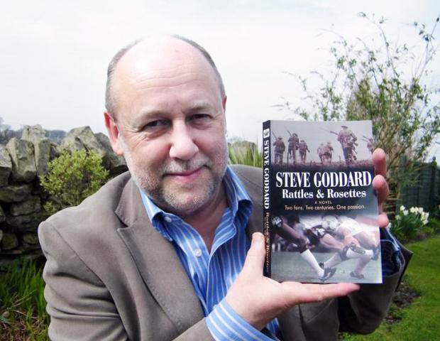 Steve Goddard with his novel
