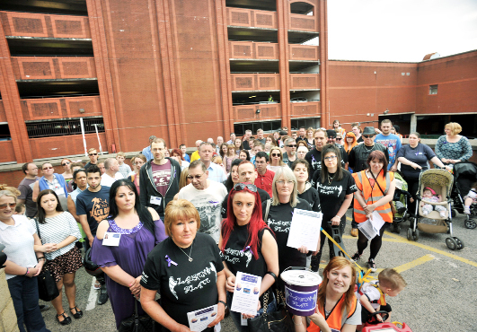 Campaigners show support in memory of girl who fell to death in Accrington