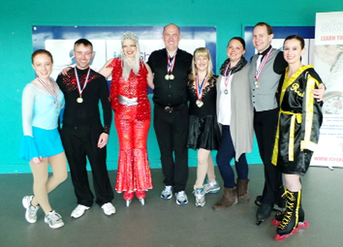 Blackburn Arena skaters who won a clutch of medals at the British Adult Ice Skating Championships