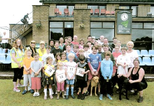 Club members who took part in the charity run at the weekend