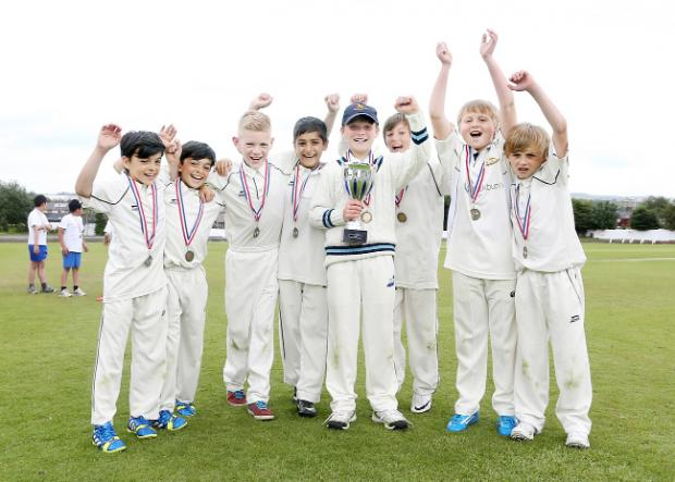 Fensicowles Primary School celebrate winning the Blackburn with Darwen Kwik Cricket Festival