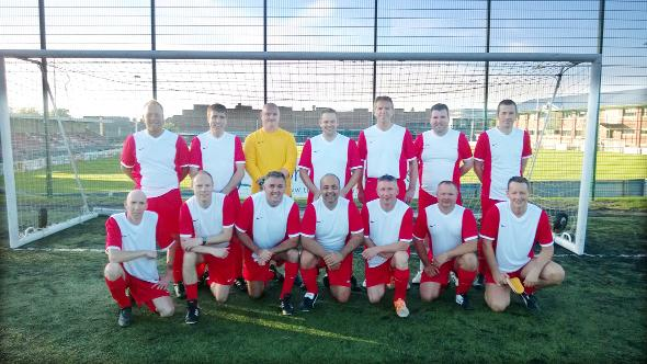 Owen Coyle (front, third from left) with the Lancashire Rangers Vets team