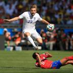 Lancashire Telegraph: Luke Shaw in action against Costa Rica