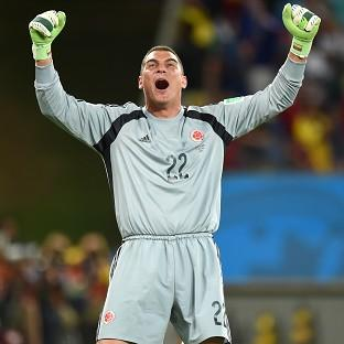Colombia goalkeeper Faryd Mondragon, pictured, paid tribute to coach Jose Pekerman