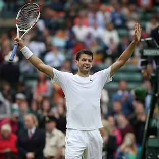 Grigor Dimitrov will appear in the Wimbledon quarter-finals for the first ti