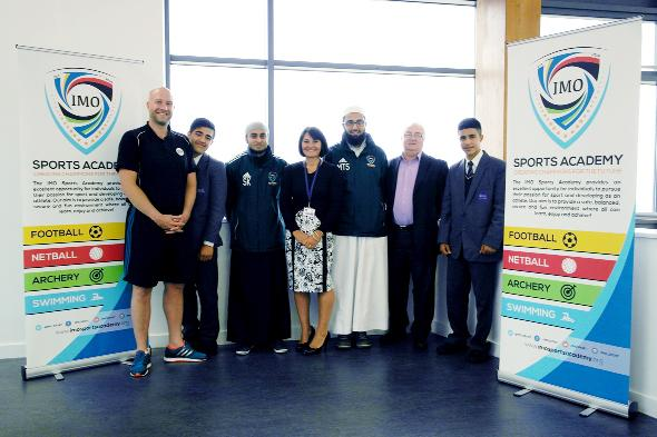 The launch of the partnership at Blackburn Central High School