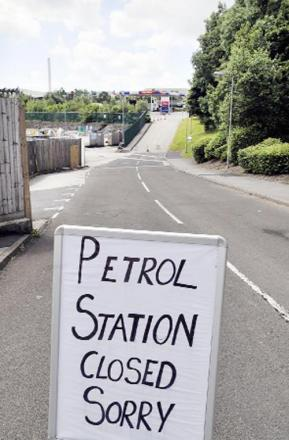 The filling station at Tesco in Haslingden was closed after the incident