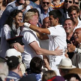 Novak Djokovic, right, is thrilled with his success under coach Boris Becker, left