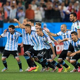 Argentina celebrate victory