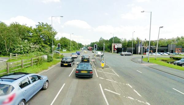 Lancashire Telegraph: A typically busy scene at the Vivary Way traffic lights in Colne