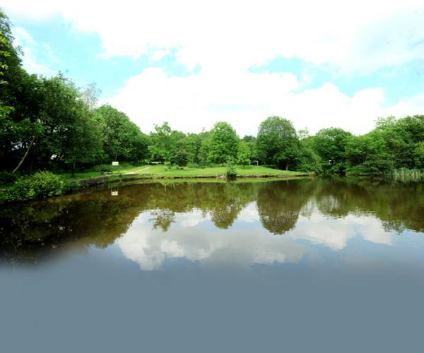 The lodge at Ashton Park which the friends' group hopes to make a haven for anglers