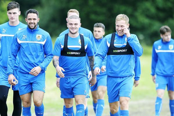 Danny Ings, Kieran Trippier and Scott Arfield get ready for the new season
