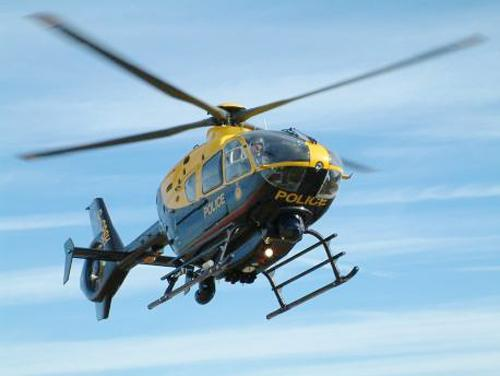 The police helicopter located two missing women in woodland