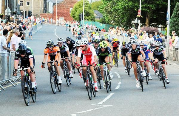 Riders in action during last year's Colne Grand Prix