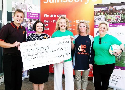 From left, Louis Magari, Sainsbury's Darwen commercial manager, Jaine Burgin, Darwen store manager, Lesley Hall, project ma